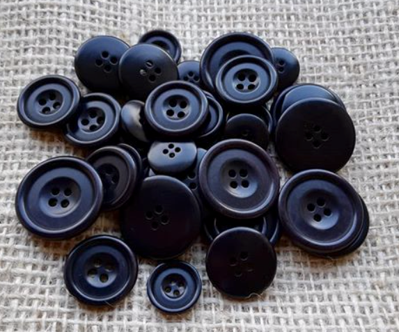 Courtney Corozo Navy buttons used by Blackshore British coastal Clothing