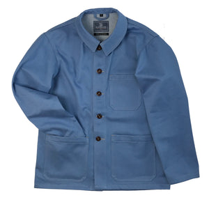 County Brook Jacket in English-woven denim, Handmade in Southwold