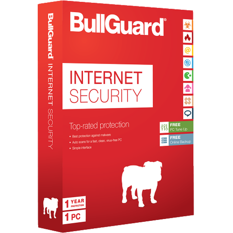 Bullguard Internet Security 2017, 1 year, 1PC, Windows