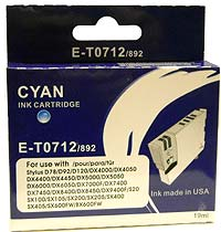 Epson E-T0 712 Cyan Single Cartridge