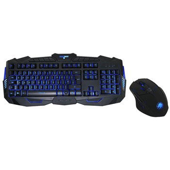 Game Max Illuminated Gaming Keyboard & Mouse 3 Colour LED
