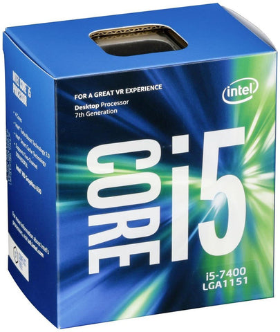 Intel Kaby Lake I5-7400 Quad Core 1151 65W 3.0 GHz 14nm 6MB Cache HD GFX 8 GT/s