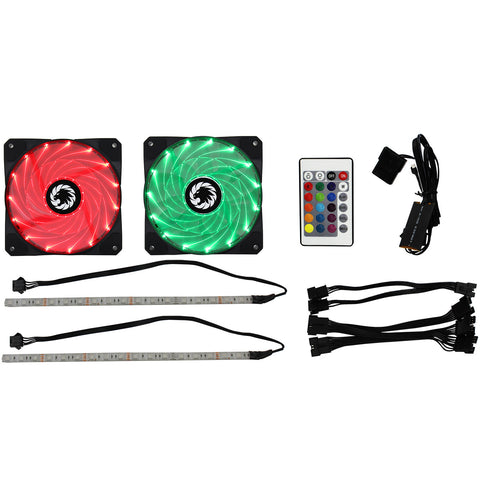 Game Max Windforce 2x45 Led RGB 12cm Cooling Fans 2xRGB 30cm LED Strips & Remote