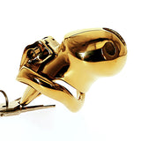 HTV3 golden boy chastity cage holy trainer