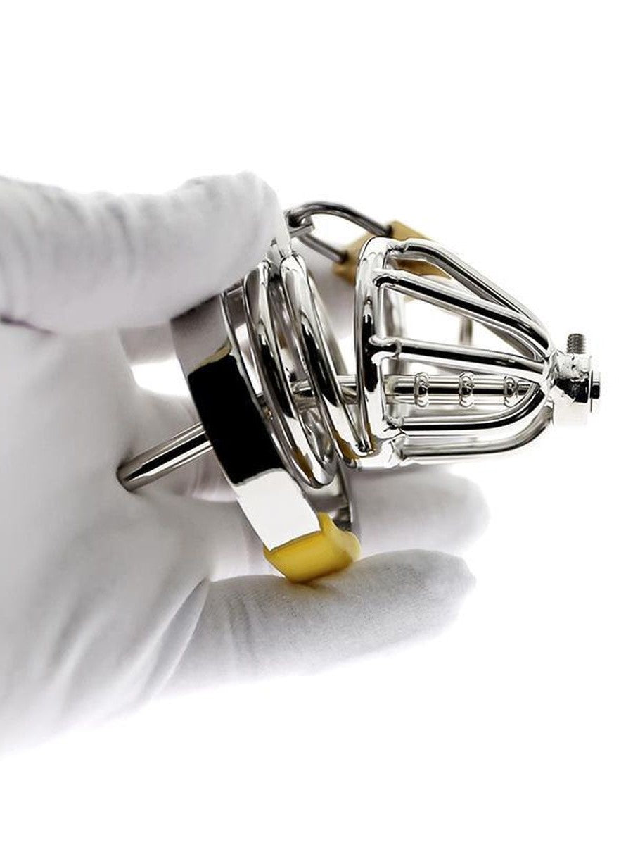 Short or Medium Chastity Cage for Men - With urethral Spout