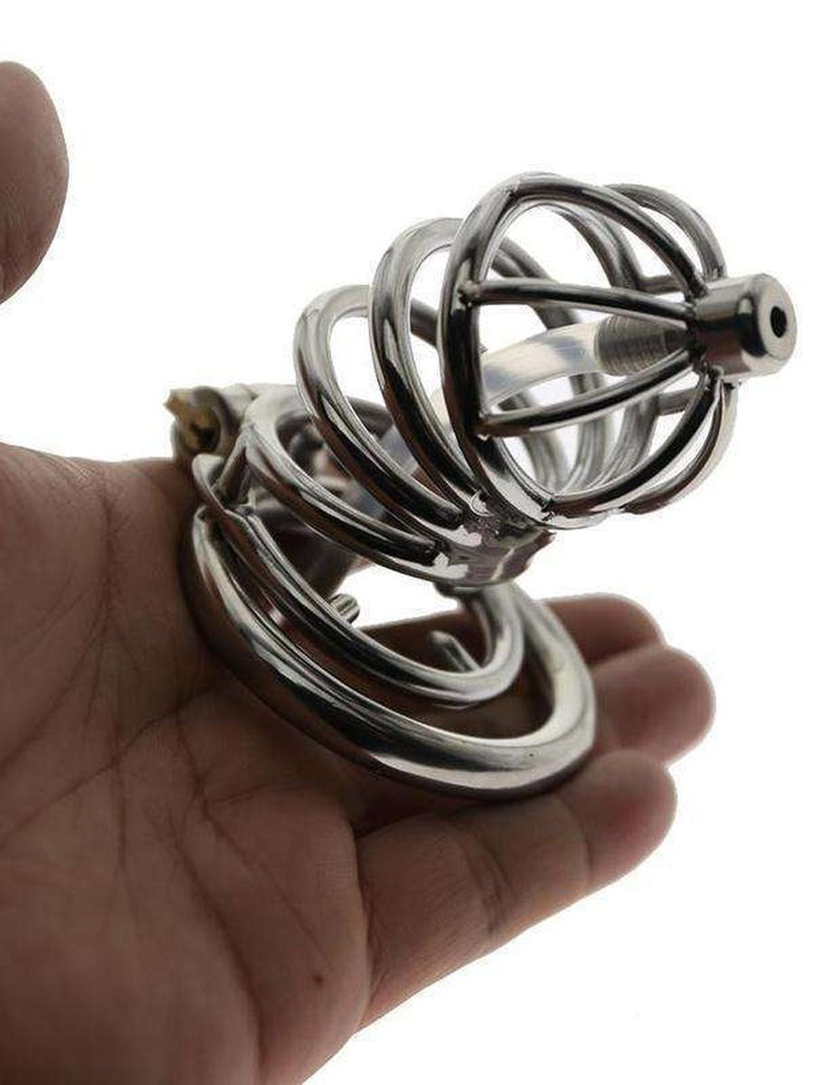 Chastity device with Urethral tube