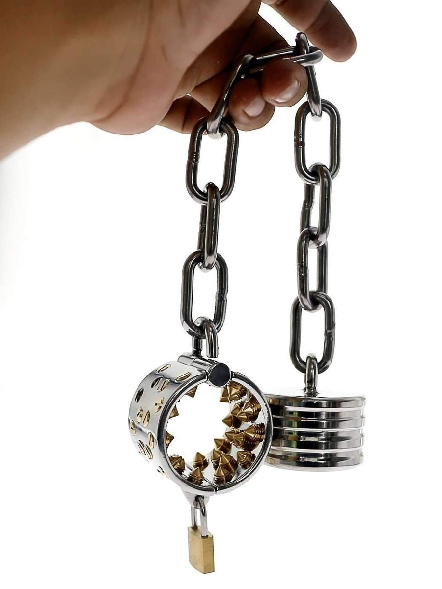 Cock and Ball torture toy - Kalis Teeth with Attached weight