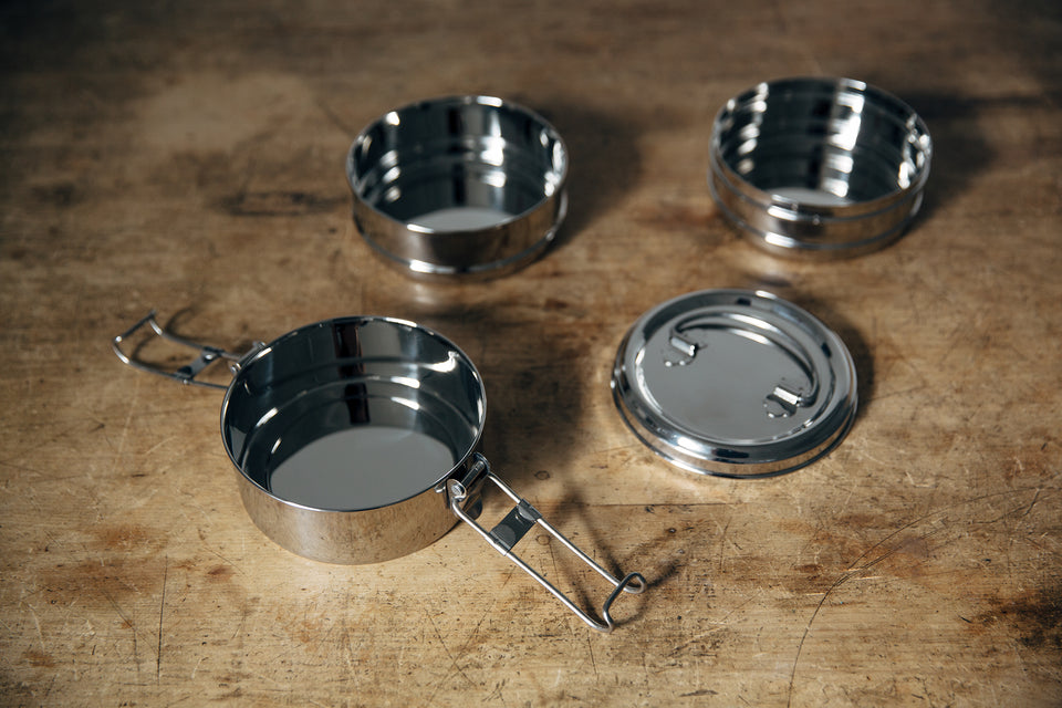 3-Tier tiffin box (stainless steel)