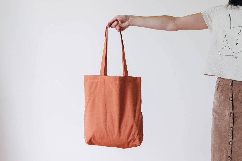 Recycled cotton tote - Terracotta