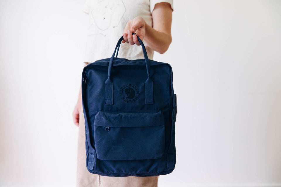 100% recycled backpack - 'Re-Kanken: Fjallraven' - Midnight