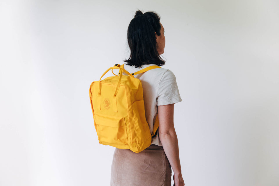 100% recycled backpack - 'Re-Kanken: Fjallraven' - Sunflower