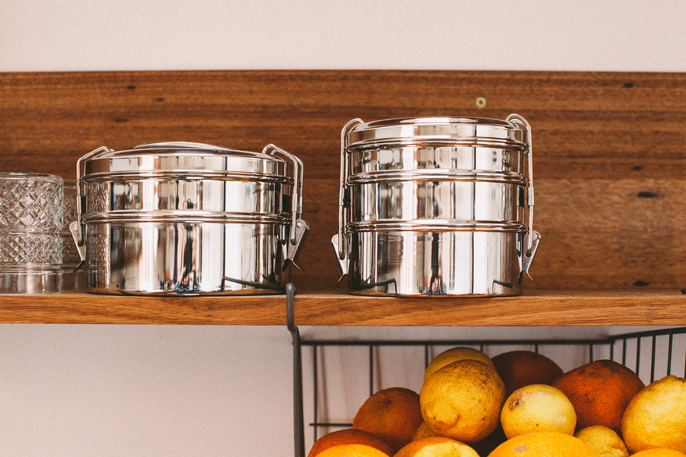 2-Tier tiffin box (stainless steel)
