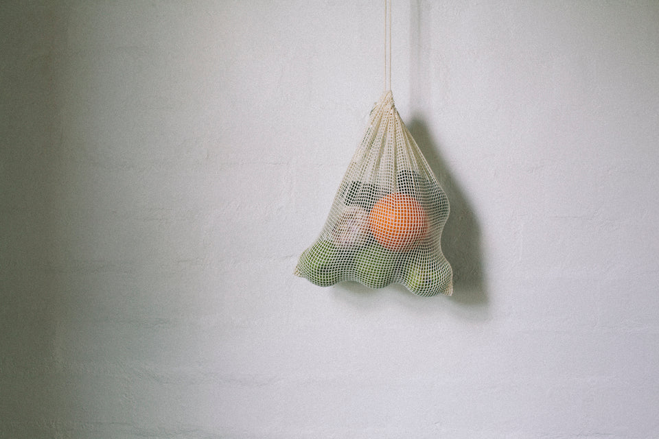 Organic cotton drawstring mesh produce bags