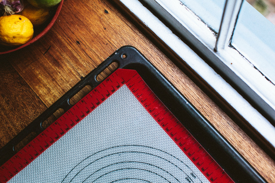Reuseable baking mat
