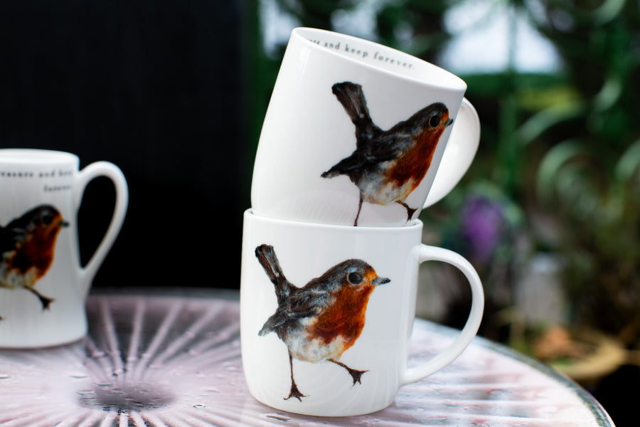 Robin mugs and jugs