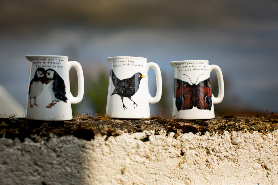 Butterfly mugs and jugs