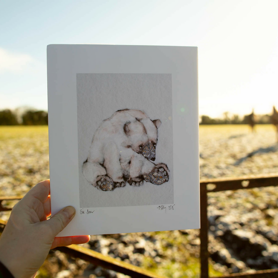 Sir Bear, polar bear art print