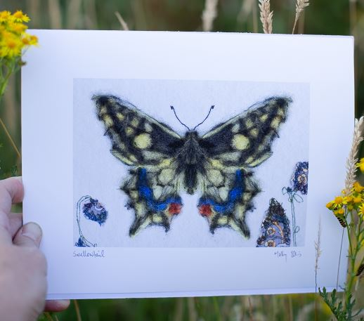 yellow butterfly print