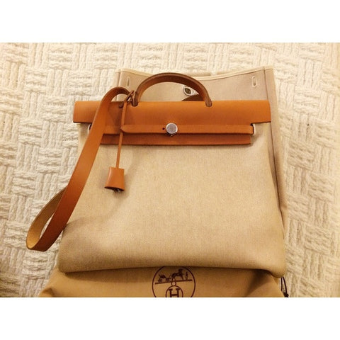 Hermes Herbag 2-in-1 Natural Handbag