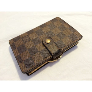 Louis Vuitton Damier Ebene Kisslock Wallet