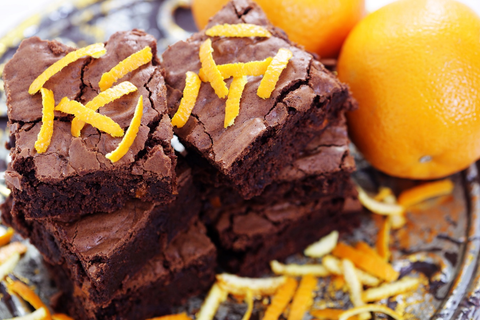 Orange Jaffa Brownies
