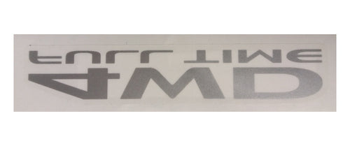 4WD Full Time - Printed Window Decal