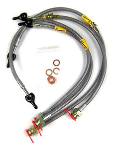 Goodridge Braided Brake Hose Kit:  Evo 1-2 (SMT0709-4C)