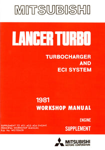 Lancer 2000 Turbo - Turbocharger & ECI System Manual