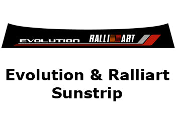 Sunstrip - Evolution Script with  RALLIART Logo