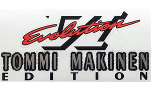 Evo 6 TME Bootlid Decal - White TME