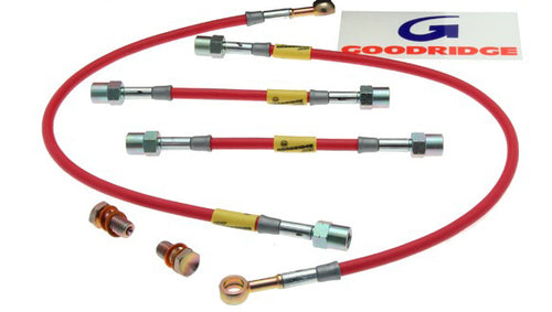 Goodridge Brake Hose Kit - Evo 5 (SMT0702-4C)