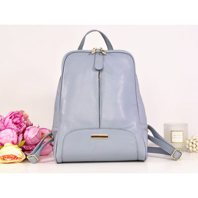 Rucsac baby blue piele naturală Andersson