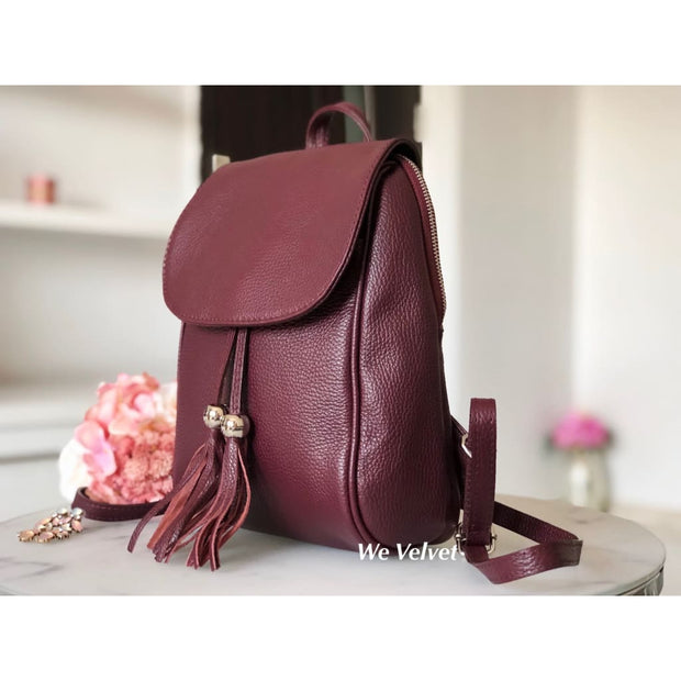 Rucsac burgundy piele natural Chester