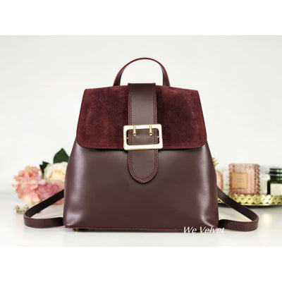 Rucsac burgundy piele natural Rory