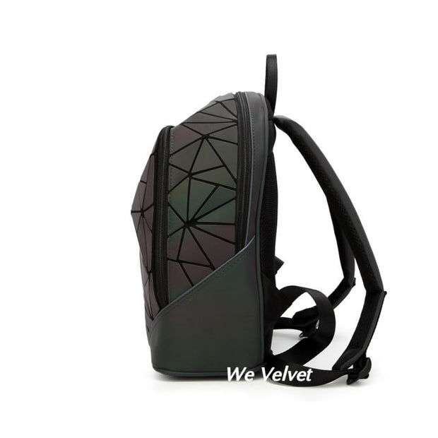 Rucsac fosforescent geometric piele eco Delix