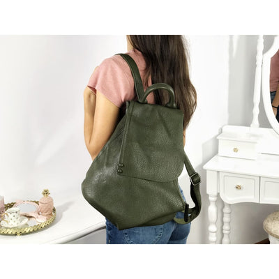 Rucsac olive piele eco Robin