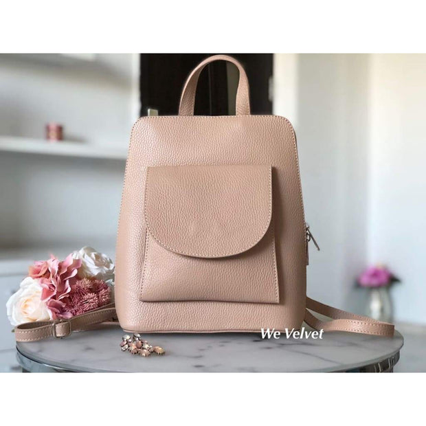 Rucsac rose nude piele natural tip geant Alexander
