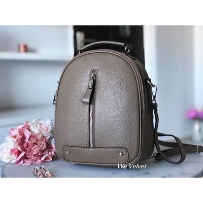 Rucsac taupe piele natural tip geant Rainy