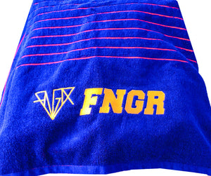 FNGR Athletes Beach Towel  - Navy | Red  or  Yellow | Orange