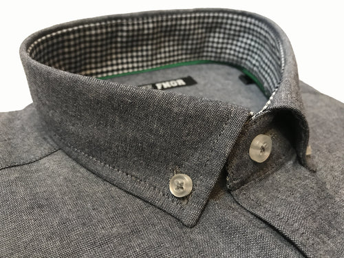 FNGR Mens Dress Shirt - Charcoal