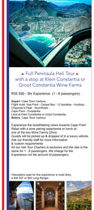 Lavish Lunch - Cape Town Helicopter Experience - Wineland Heli Lunch