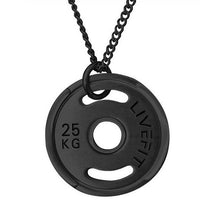 LIVEFIT™ Micro Weight Plate Necklace - Black