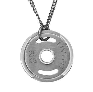 LIVEFIT™ Micro Weight Plate Necklace - Silver