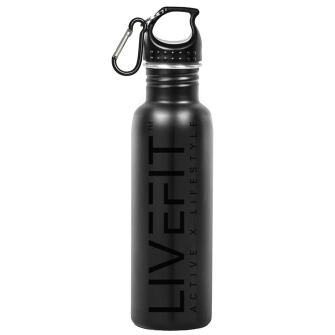 LIVEFIT™ Stainless Steel BLVCK Water Bottle