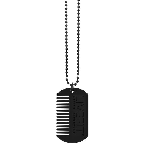 Beard Comb Matte Dog Tag