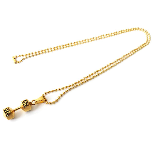 LIVEFIT™ Dumbbell Pendant Necklace - Gold