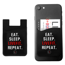 LIVEFIT™ EAT SLEEP REPEAT Phone Card Holder