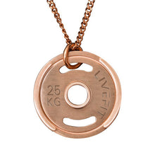 LIVEFIT™ Weight Plate Necklace - Rose Gold