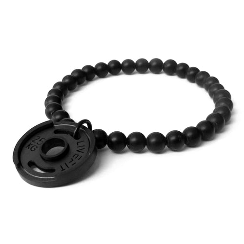 LIVEFIT™ Lifestyle Weight Plate Bracelet - All Black