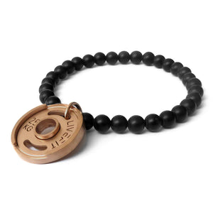 LIVEFIT™ Lifestyle Weight Plate Bracelet - Rose Gold/Black